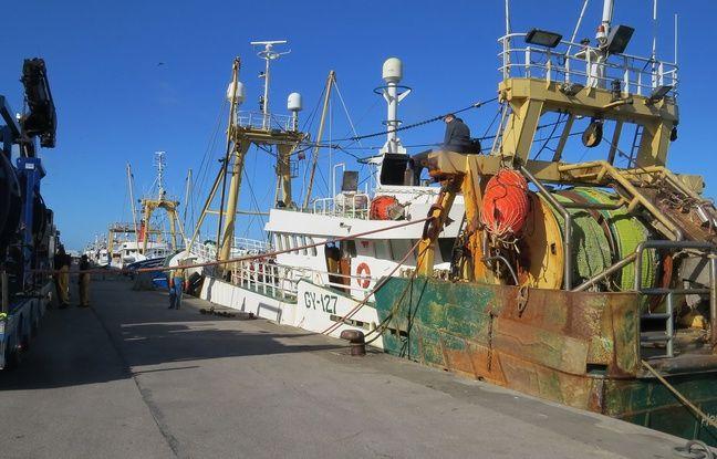 Une quarantaine de bateaux de pêche sont amarrés au port de Boulogne