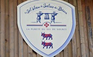 Logo de la bourgade de Salies de Béarn, dans le sud-ouest de la France, le 7 juillet 2016