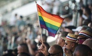 Cérémonie d'ouverture des Gay Games à Paris, le 4 août 2018.
