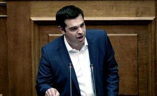 Le Premier ministre, Alexis Tsipras, devant le Parlement le 5 juin 2015 à Athènes