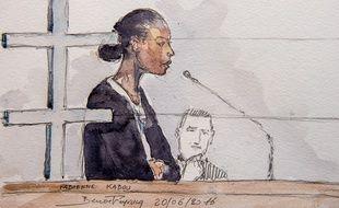 Fabienne Kabou lors de son procès en 2016.
