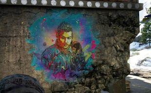 Une oeuvre du street artiste français C215 dans Far Cry 4.