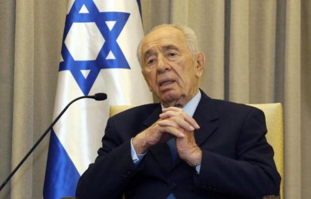 Le président Shimon Peres le 19 février 2014 à Jérusalemn – Gali Tibbon AFP