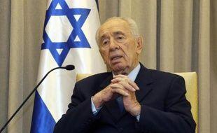 Le président Shimon Peres le 19 février 2014 à Jérusalemn