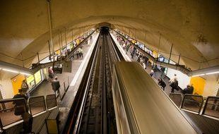 Marseille le 3 novembre 2011 - La station Castellane du métro marseillais