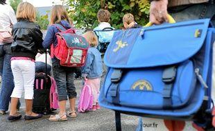 La rentrée scolaire dans une école primaire de Nantes. Illustration.