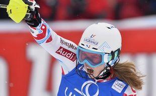 La Française Anne-Sophie Barthet se classe dixième du slalom de Coupe du monde à Lienz, en Autriche, le 29 décembre 2013.