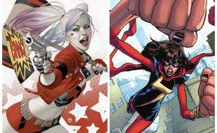 Harley Quinn et Ms. Marvel sont deux super-héroïnes que la spécialiste et historienne du comics Trina Robbins adore et célèbre