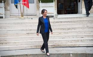 Ségolène Royal, le 2 avril 2014, au ministère de l'Ecologie, lors de la passation de pouvoir avec Philippe Martin.