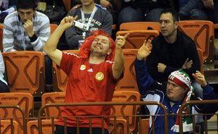 Des supporters lors du match Islande-Hongrie, le 22 janvier 2012