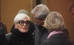 Nicole Croisille et Claude Lelouch devant la cathédrale Sainte-Réparate, le mercredi 14 novembre 2018
