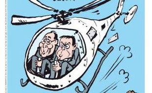 Couverture de Charlie Hebdo diffusée le 17 mars 2015, la veille de sa sortie en kiosque, signée Riss, un des survivants du massacre d'une grande partie de la rédaction du magazine satirique le 7 janvier