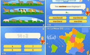 Le site jeuxpedago.com propose des exercices pour les élèves du CP à la terminale.