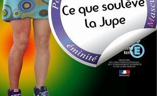Extrait de l'affiche de l'opération «Ce que soulève la jupe»