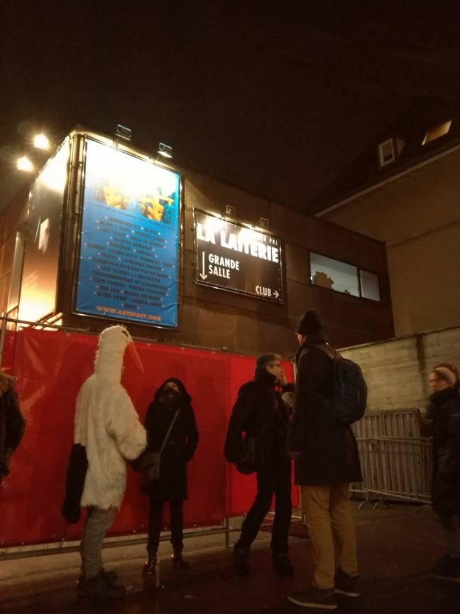 L'action contre les gobelets jetables devant la salle de concert de la Laiterie s'est déroulée fin décembre.