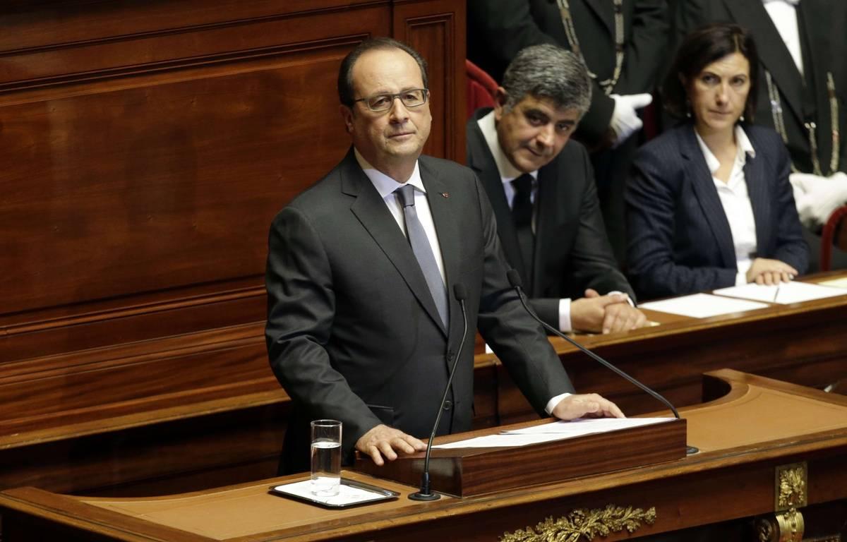 François Hollande devant le Congrès, à Versailles, le 16 novembre. – Philippe Wojazer/AP/Sipa
