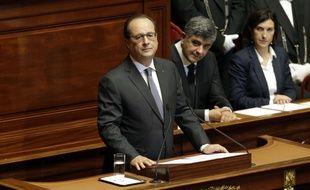 François Hollande devant le Congrès, à Versailles, le 16 novembre.
