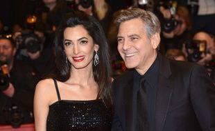 Amal et George Clooney, au Festival de Berlin, le 16 février 2016.