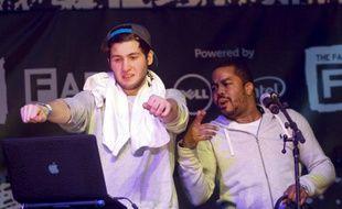 Les producteurs Baauer et Just Blaze surfent sur la nouvelle vague trap, lors du festival SXSW, le 12 mars 2013.
