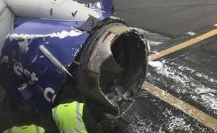 Un Boeing 737 de Southwest Airlines s'est posé en urgence à Philadelphie, le 17 avril 2018.