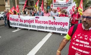 Lors d'une manifestation contre la réforme des retraites, en septembre, Toulouse.