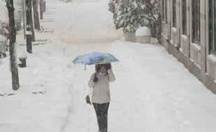 Illustration d'une tempête de neige.