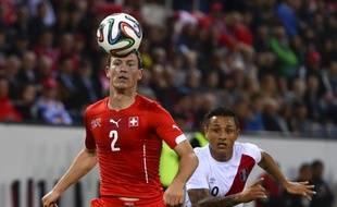 Le joueur suisse Stefan Lichtsteiner, le 3 juin 2014 à Lucerne contre le Pérou.