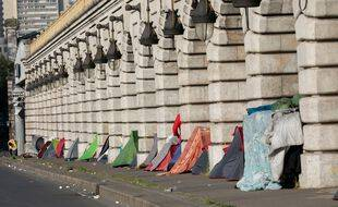 Des tentes de sans-abri à Paris, en avril 2021 (illustration).