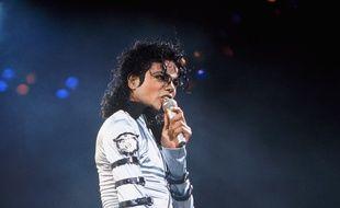 Michael Jackson en concert à Paris en 1988.