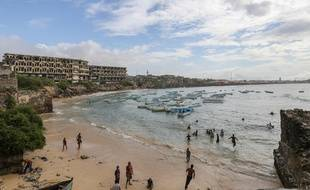 La plage de Mogadiscio, en Somalie, le 11 octobre 2014.