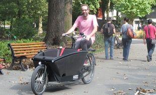 Alexandre a acheté son vélo cargo en mai