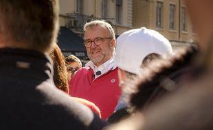 Etienne Blanc, lors de la campagne des municipales de 2020 à Lyon.