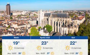 Météo Nantes: Prévisions du mercredi 14 juillet 2021