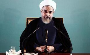 Le président iranien Hassan Rohani en conférence de presse à Téhéran le 30 août 2014