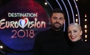 Madame Monsieur sur le plateau de «Destination Eurovision».