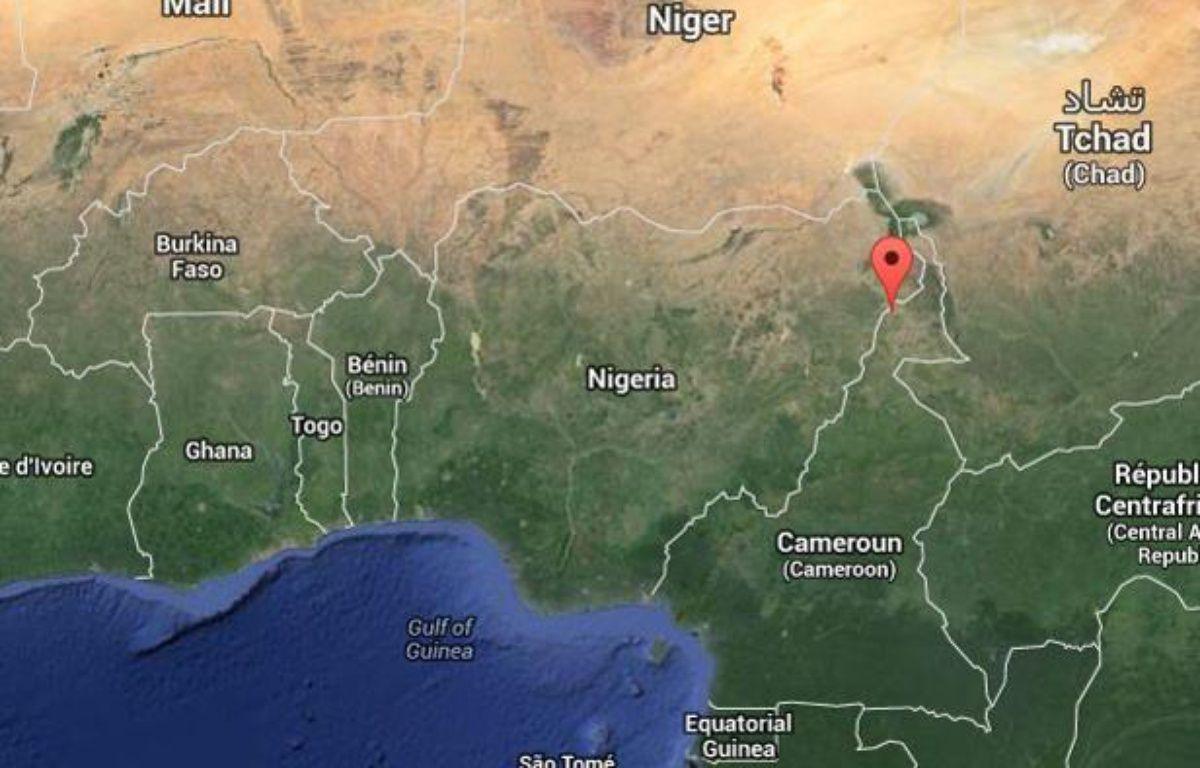 Le prêtre Georges Vandenbeusch enlevé le 14 novembre 2013 officiait à Nguetchewe, dans le nord du Cameroun. – Capture d'écran/ Google Map