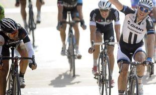 L'Allemand John Degenkolb prend la 2e place du Paris-Roubaix 2014 derrière le néerlandais Niki Terpstra, le 12 avril 2014.