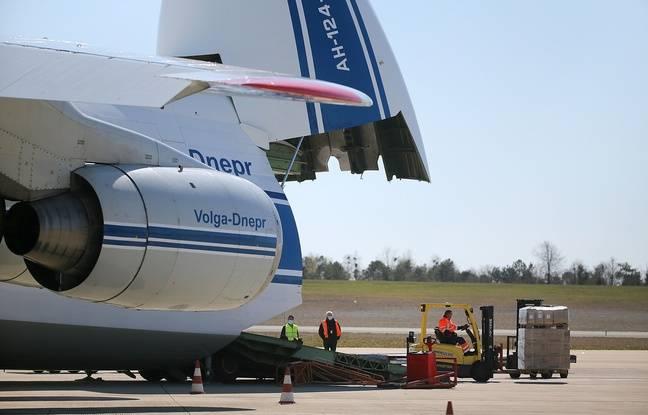 Coronavirus dans le Grand-Est: Un avion atterrit avec plus de 7millions de masques médicaux