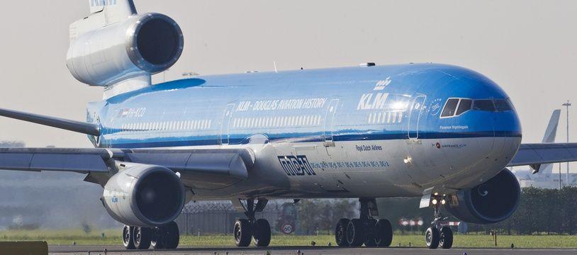 Un avion de la compagnie aérienne KLM.