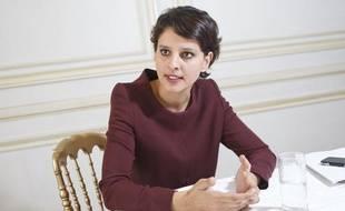 Najat Vallaud-Belkacem, ministre des Droits des femmes et porte-parole du gouvernement, en interview le 1er juillet 2013.
