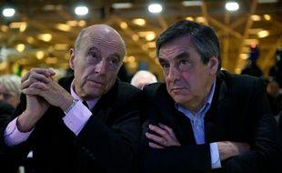 Alain Juppé et François Fillon le 13 février 2016 à Paris