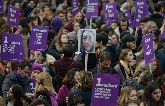 Lors de la manifestation #NousToutes, à Paris, le 23 novembre 2019.