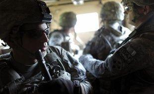 Des soldats américains vers le camp Michigan en Afghanistan.