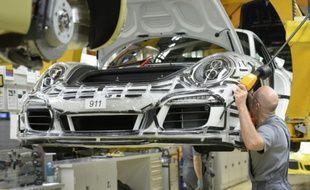 Une usine Porsche à Stuttgart, le 10 mars 2015