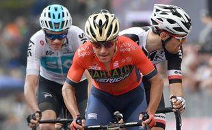 Domenico Pozzovivo le 24 mai 2018 sur le Tour d'Italie.