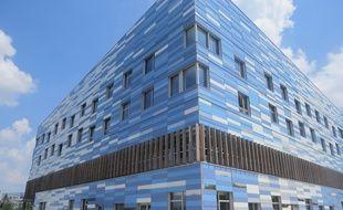 Un bâtiment du futur nouveau pôle de santé privé à Saint-Herblain. La clinique de la main y a déménagé ce lundi