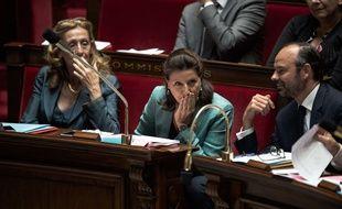 Nicole Belloubet, Edouard PHILIPPE et Agnès Buzyn à l'Assemblée Nationale, le 11 Octobre 2017.