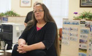 Kim Davis, greffière du comté de Rowan, dans le Kentucky, dans son bureau, le 2 septembre 2015 à Morehead