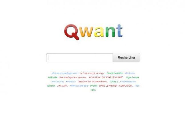 Qwant, un nouveau moteur de recherche français lancé le 13février 2013.