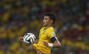 Thiago Silva sous le maillot du Brésil, le 17 juin 2014.